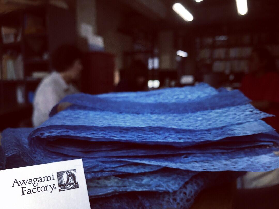 阿波藍×阿波和紙 (indigo×craftpaper)