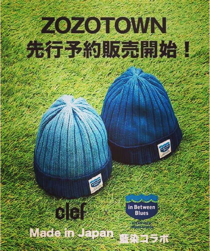 """ZOZO"" 先行予約開始!! clefhats ×inbetweenblues.jp"