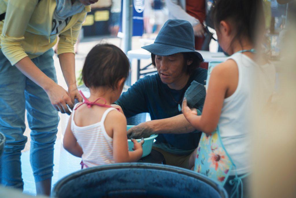 藍染とアワガミファクトリー阿波和紙のコラボ企画 @徳島ひょうたん島 水都祭