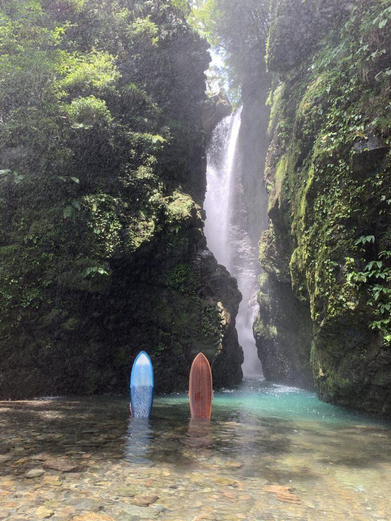 indigo & wood'n Urushi surfboard