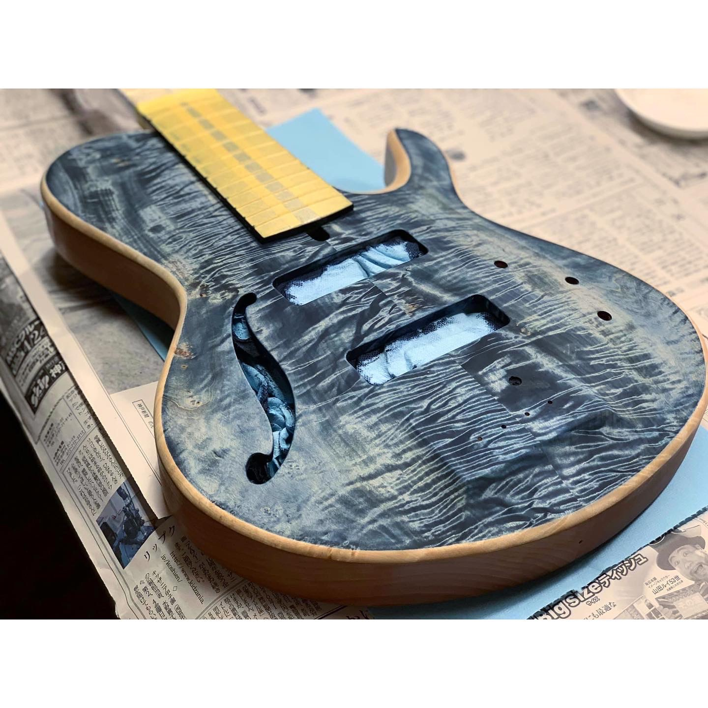 indigo wood guiter